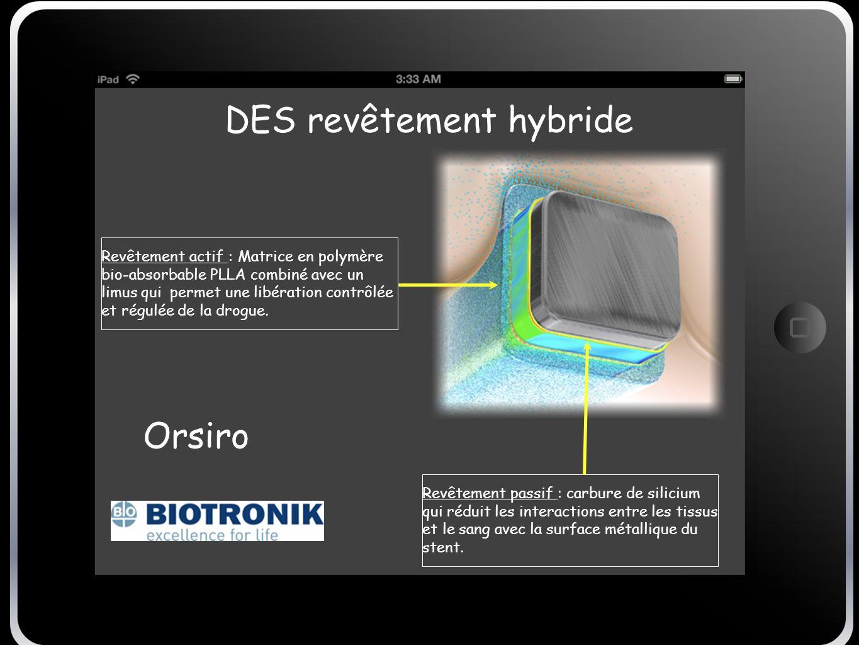DES revêtement hybride