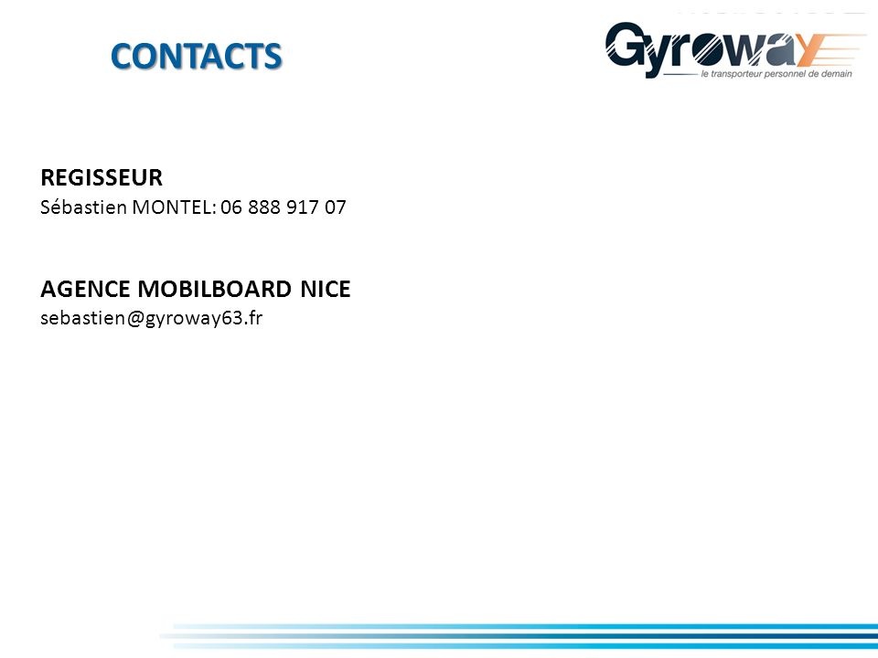 CONTACTS REGISSEUR AGENCE MOBILBOARD NICE