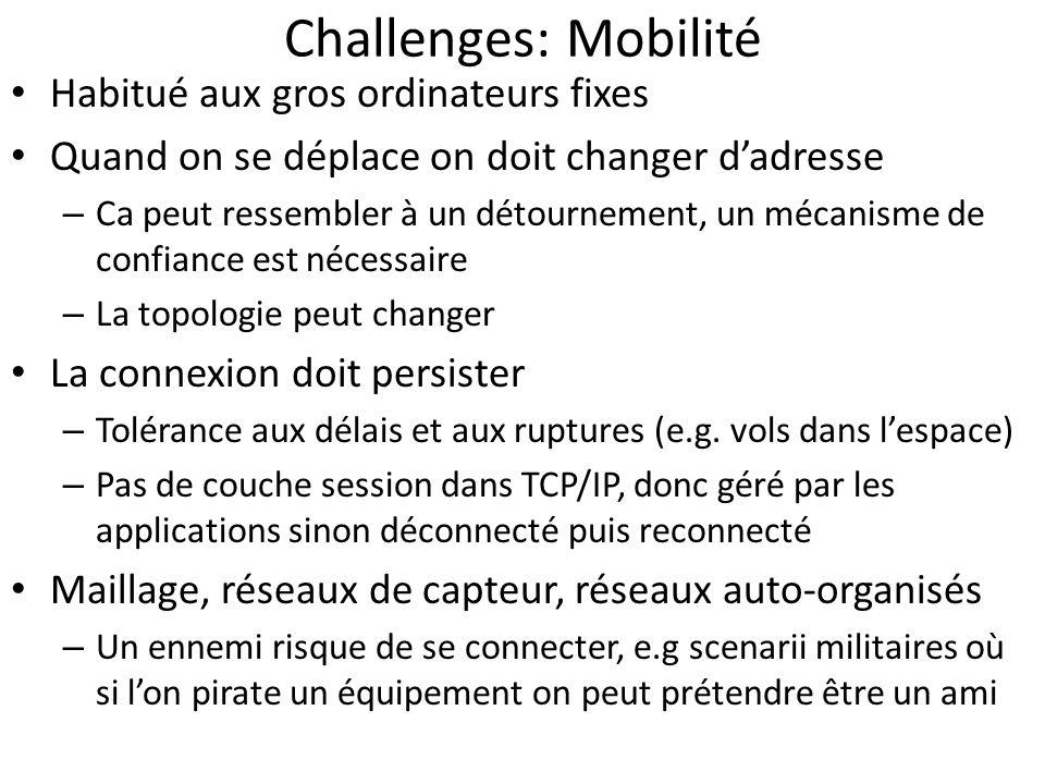 Challenges: Mobilité Habitué aux gros ordinateurs fixes
