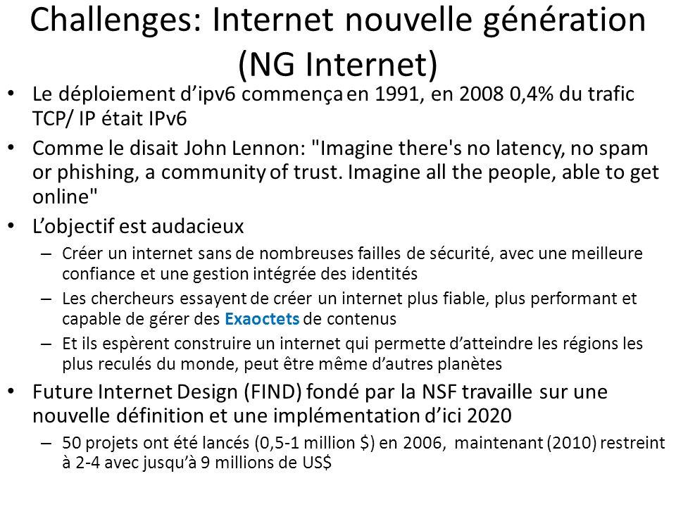 Challenges: Internet nouvelle génération (NG Internet)
