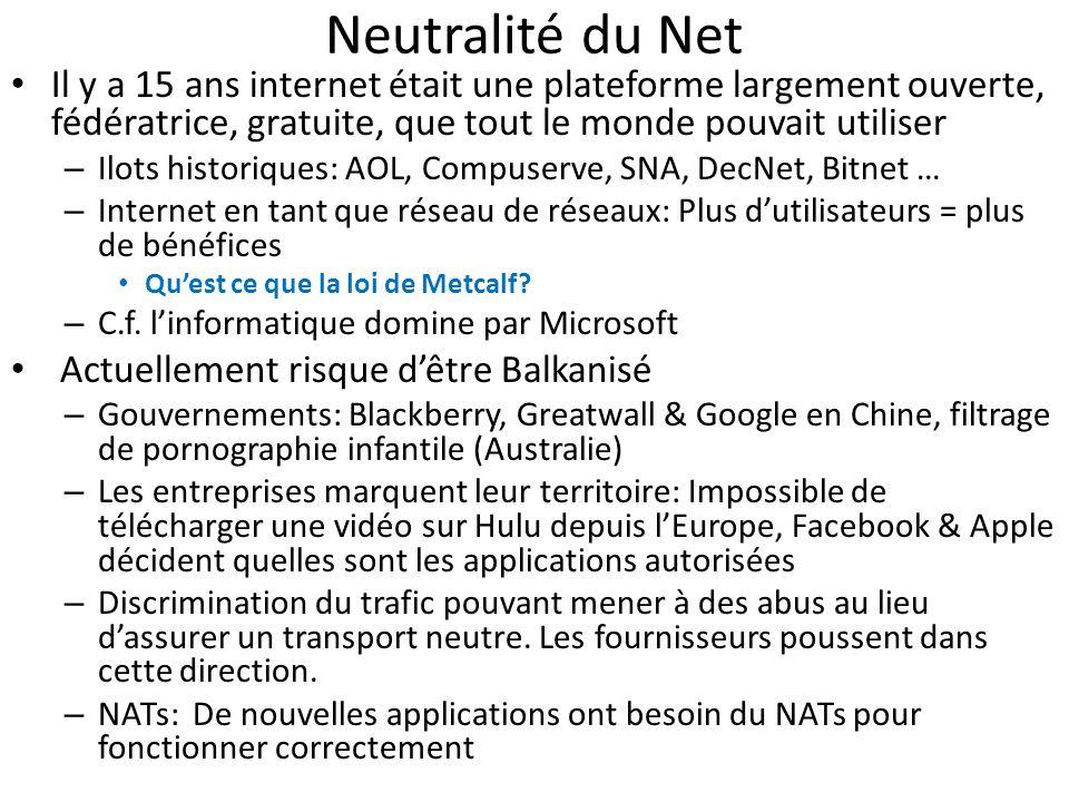 Neutralité du Net Il y a 15 ans internet était une plateforme largement ouverte, fédératrice, gratuite, que tout le monde pouvait utiliser.