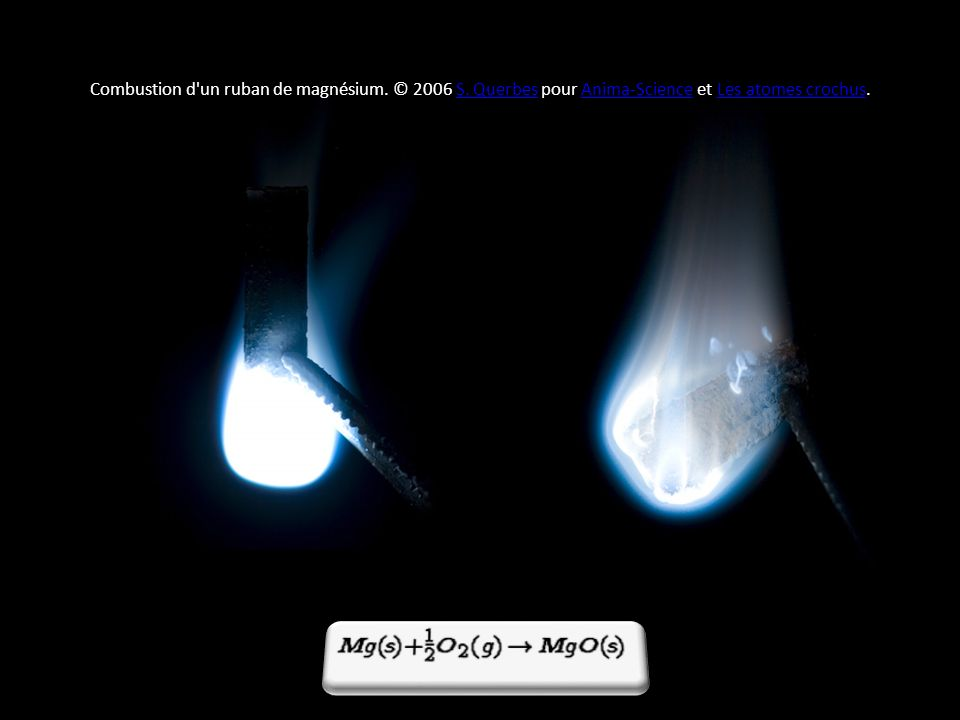 Combustion d un ruban de magnésium. © 2006 S