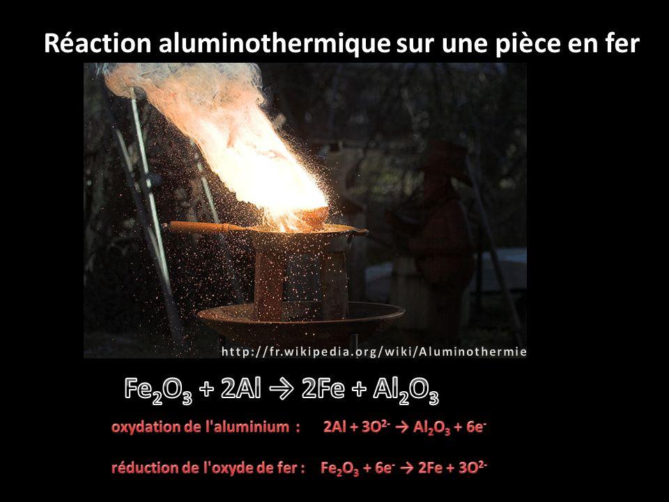 Réaction aluminothermique sur une pièce en fer