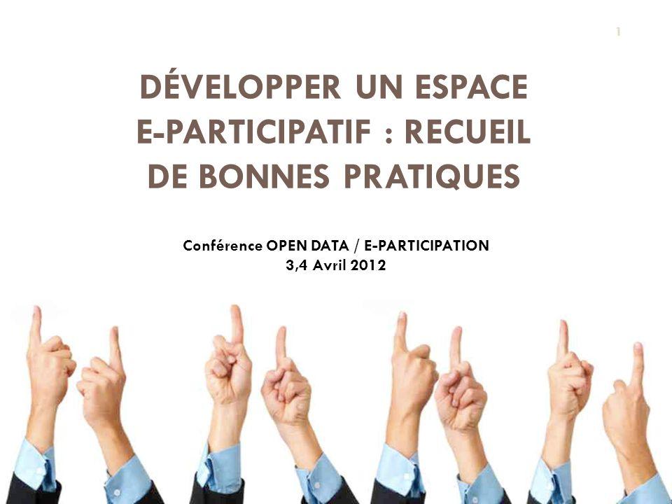 Développer un Espace e-participatif : Recueil de bonnes pratiques