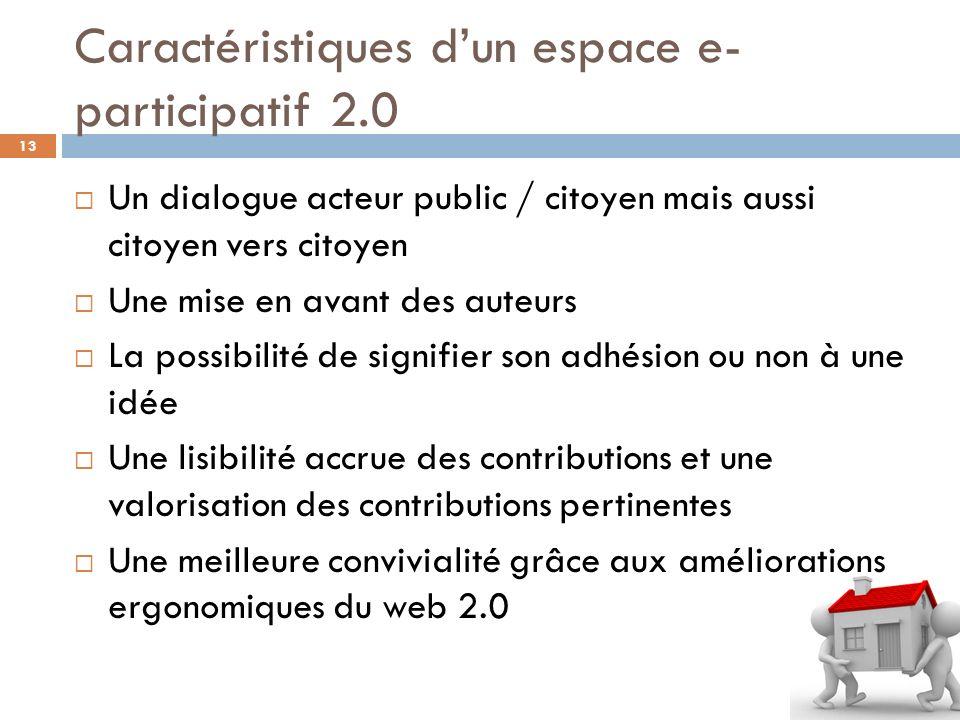 Caractéristiques d'un espace e-participatif 2.0
