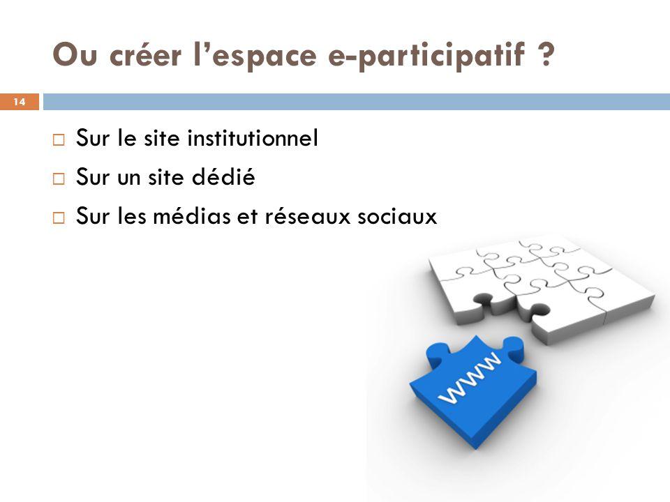 Ou créer l'espace e-participatif