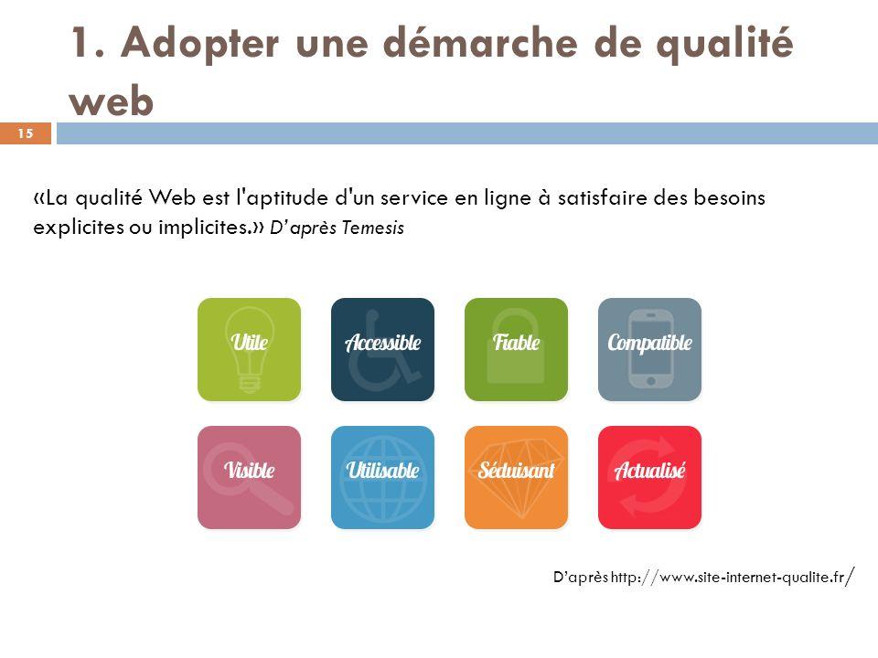 1. Adopter une démarche de qualité web