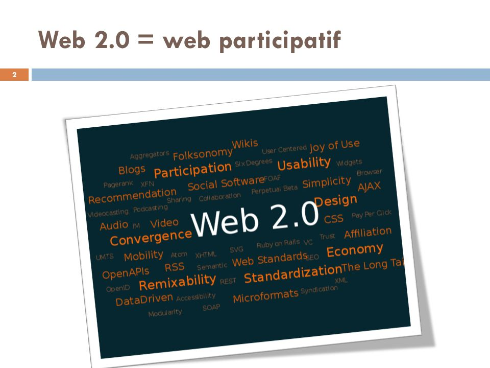 Web 2.0 = web participatif