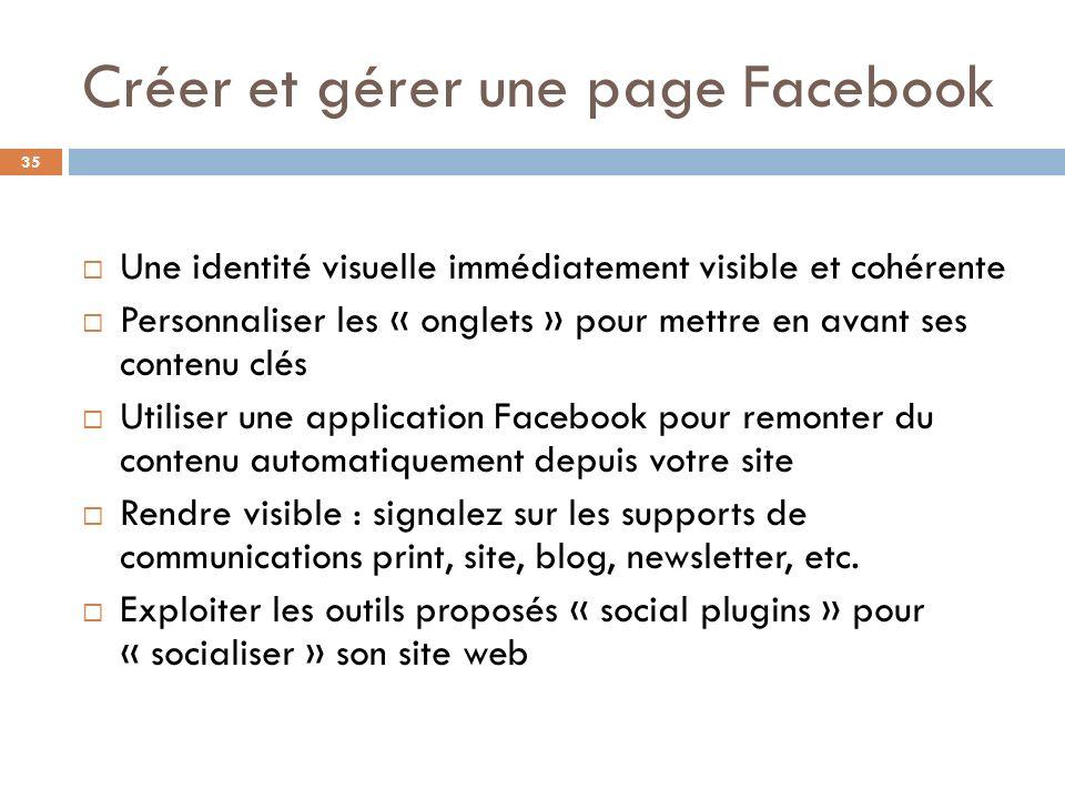 Créer et gérer une page Facebook
