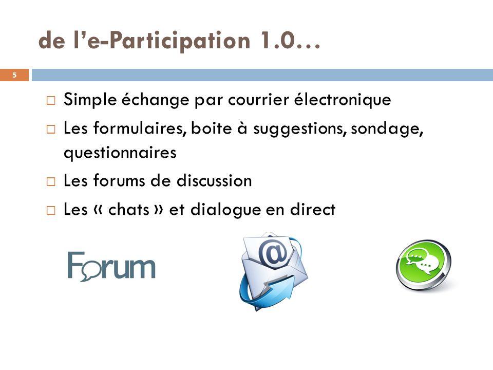 de l'e-Participation 1.0…
