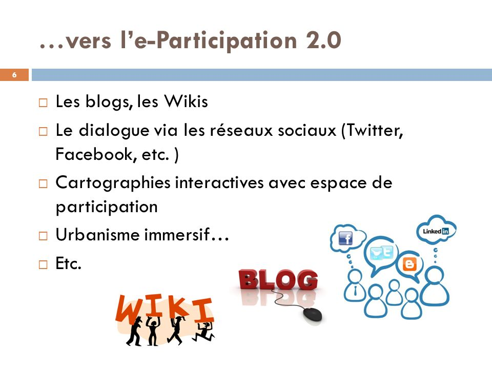…vers l'e-Participation 2.0