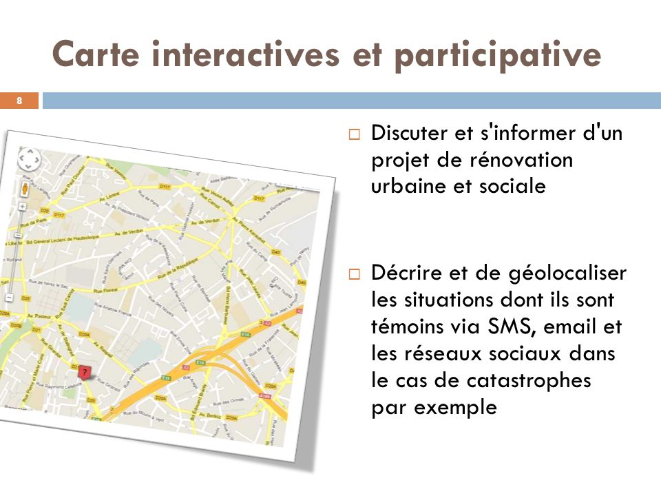 Carte interactives et participative