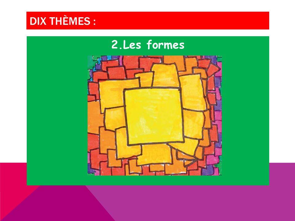 DIX THÈMES : 2.Les formes