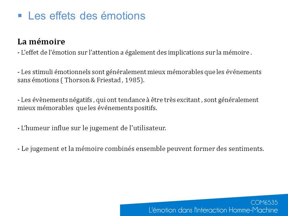 Les effets des émotions
