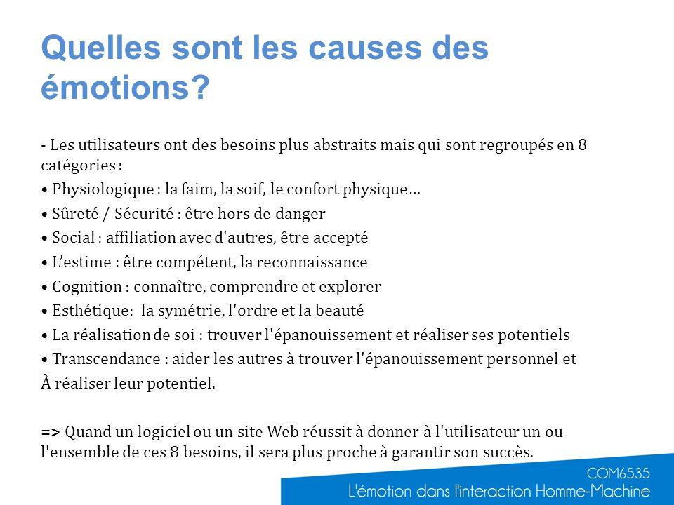 Quelles sont les causes des émotions
