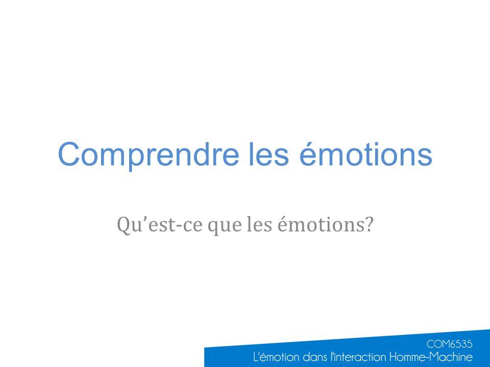 Comprendre les émotions
