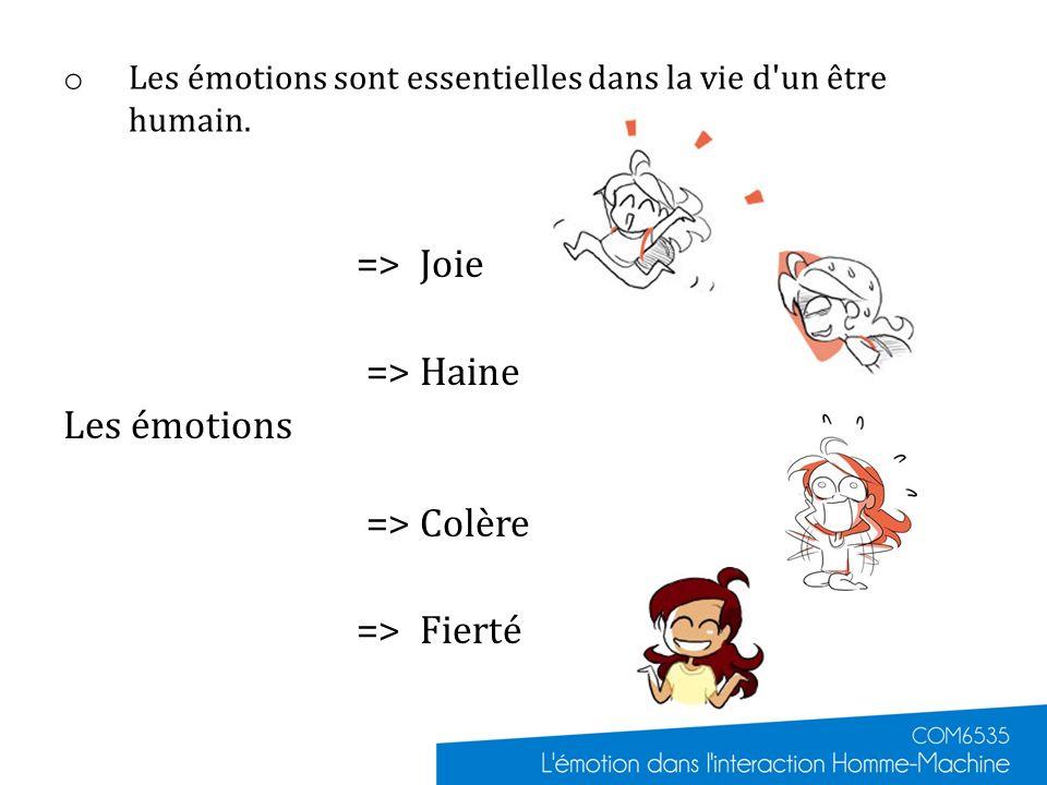 Les émotions sont essentielles dans la vie d un être humain.