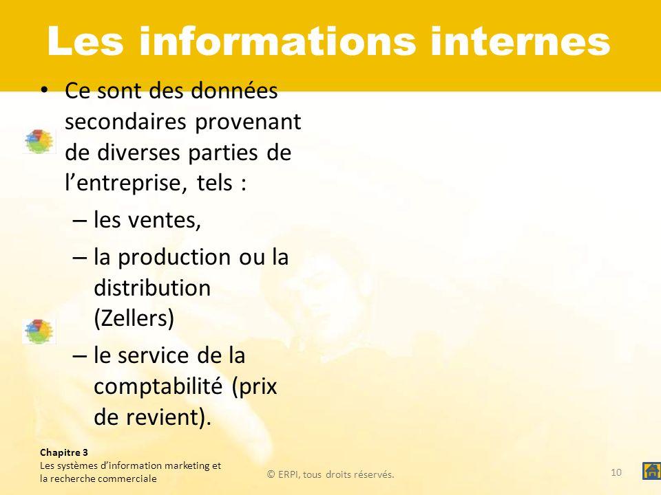 Les informations internes