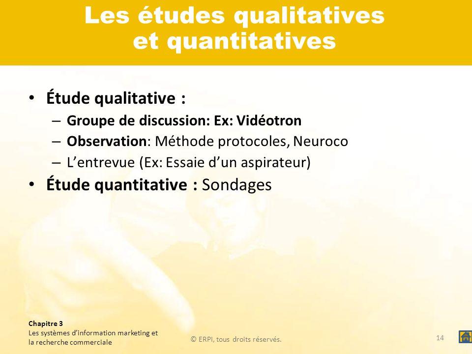 Les études qualitatives et quantitatives