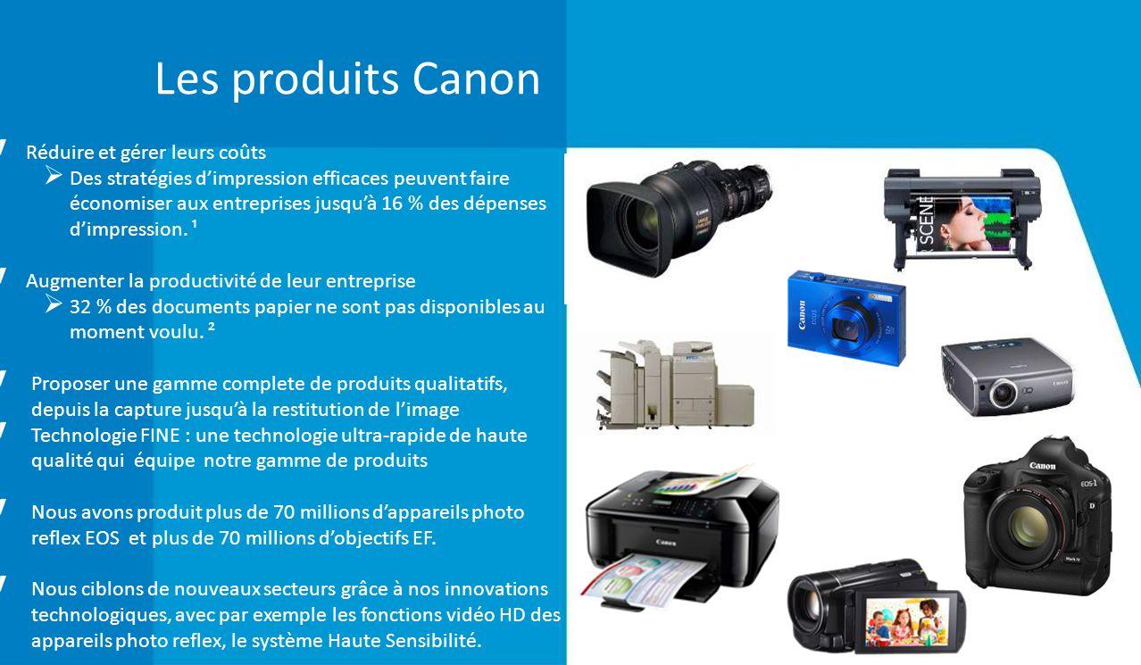 Les produits Canon Réduire et gérer leurs coûts