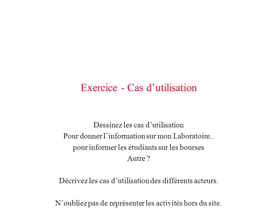 Exercice - Cas d'utilisation
