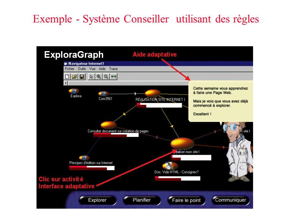Exemple - Système Conseiller utilisant des règles