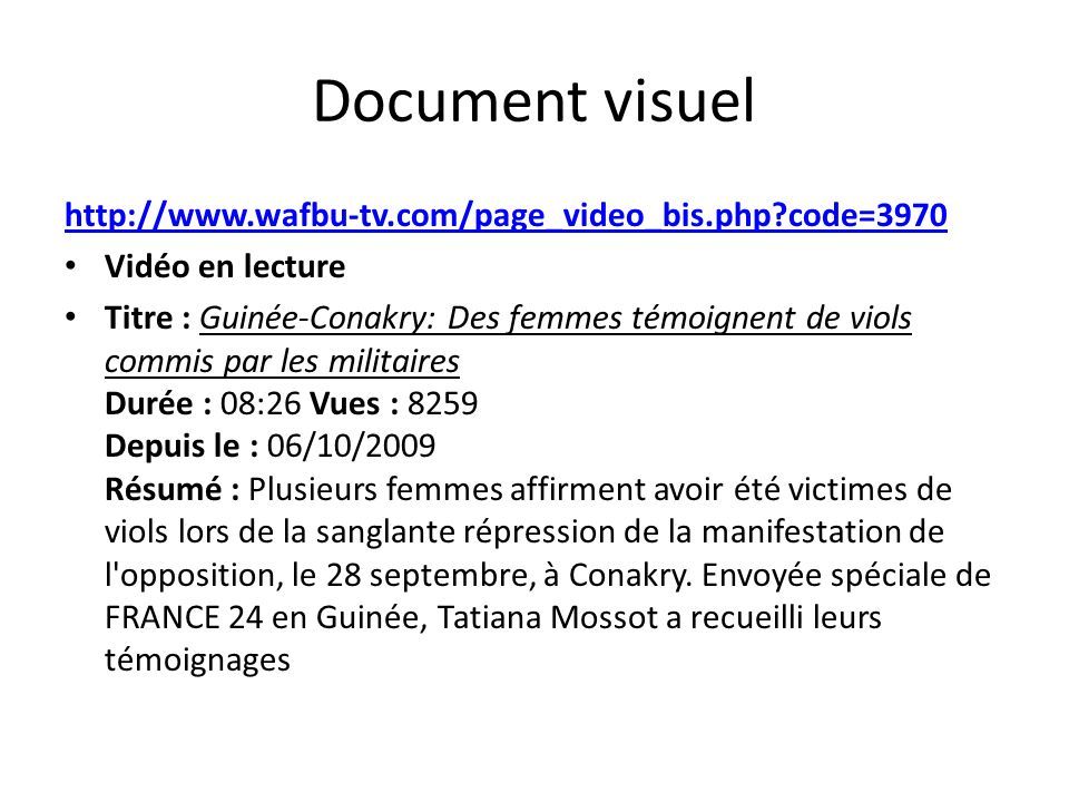 Document visuel http://www.wafbu-tv.com/page_video_bis.php code=3970