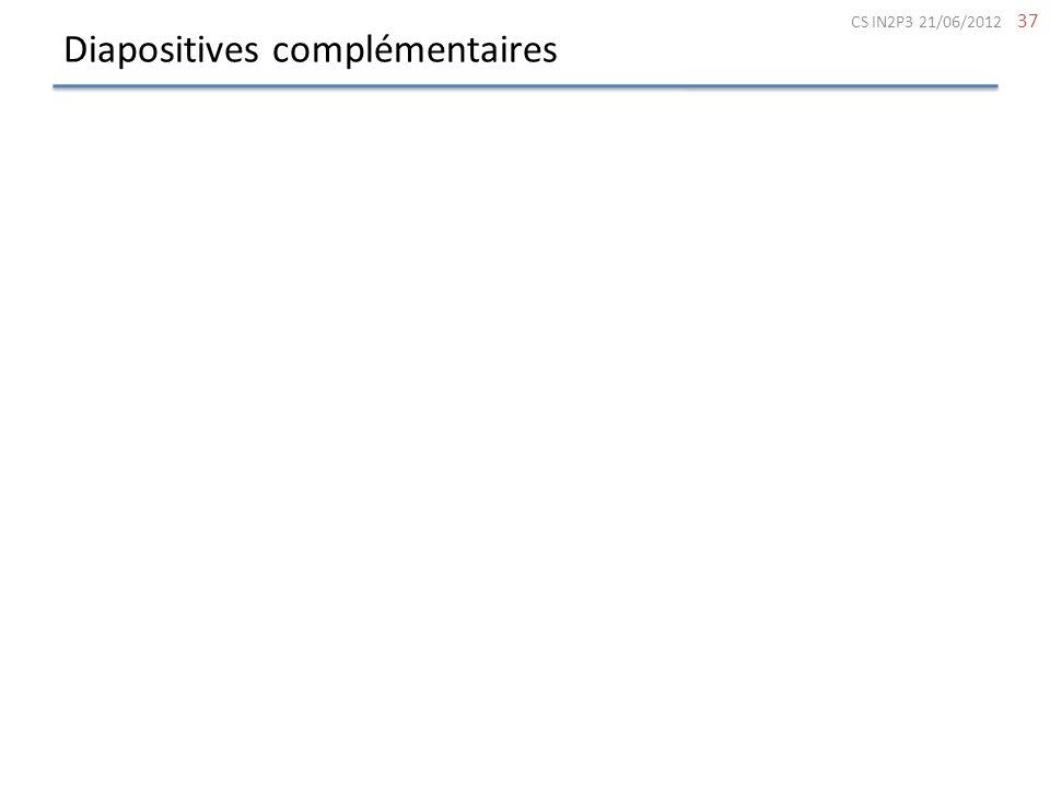 Diapositives complémentaires