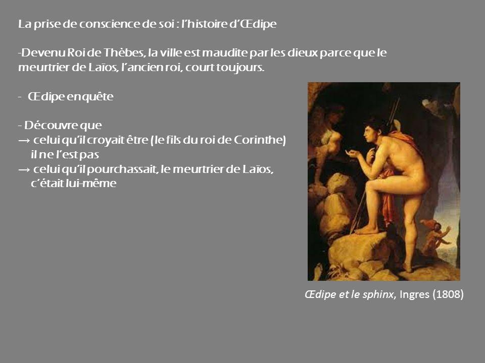 La prise de conscience de soi : l'histoire d'Œdipe