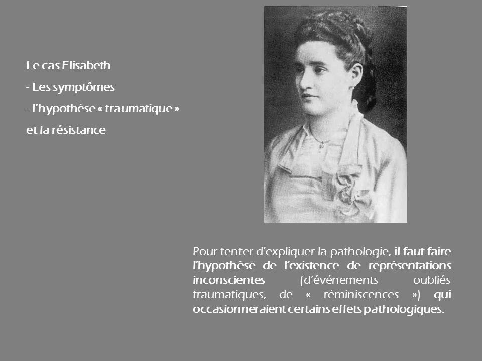 Le cas Elisabeth Les symptômes. l'hypothèse « traumatique » et la résistance.