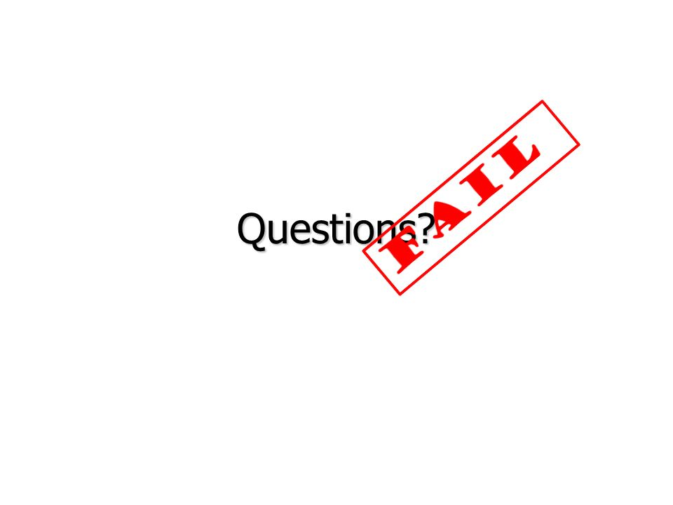 FAIL Questions