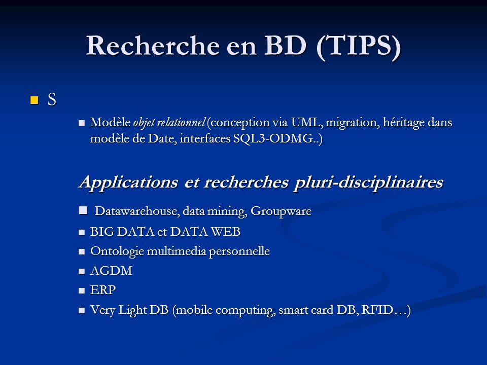 Recherche en BD (TIPS) S