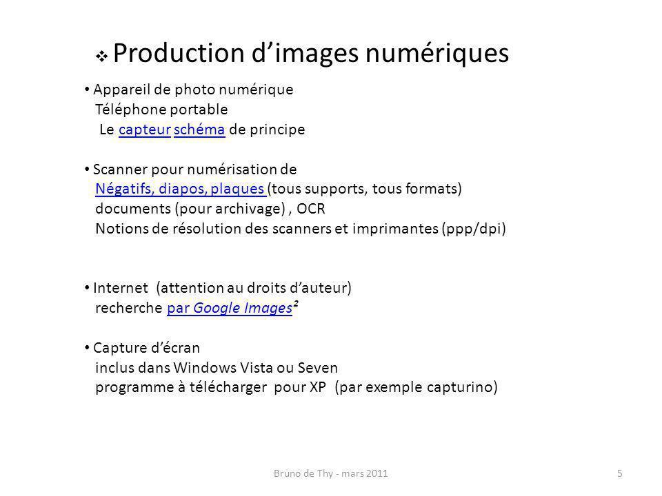Production d'images numériques
