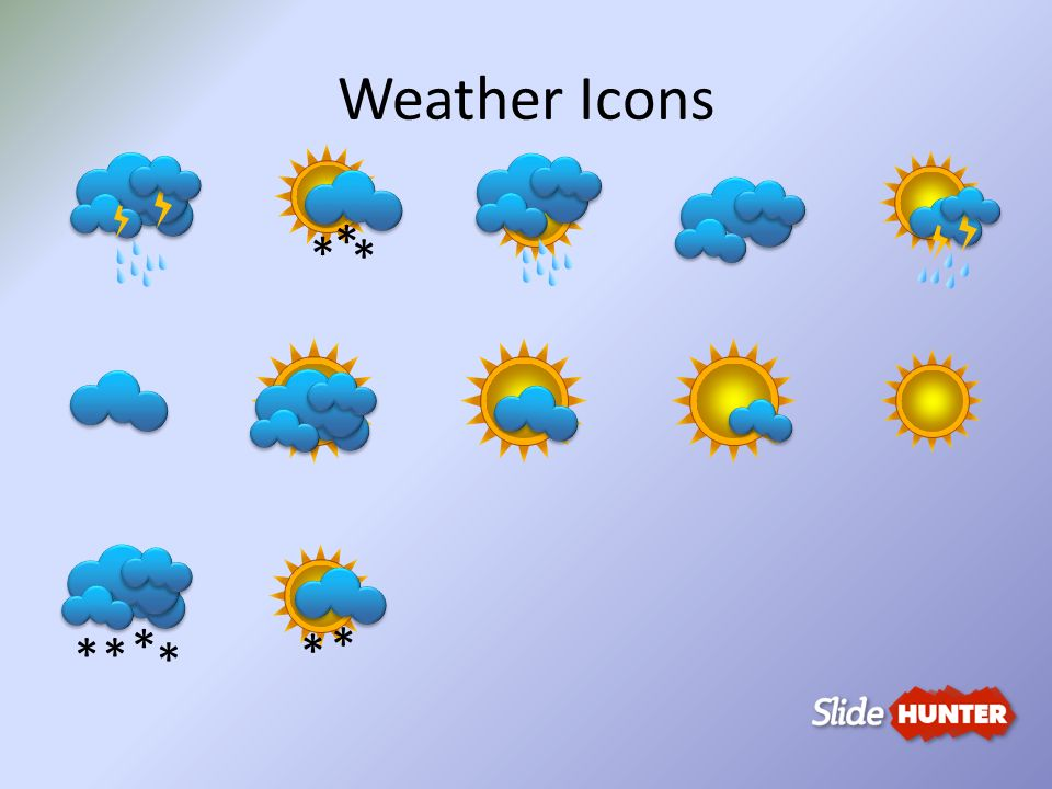 Weather Icons * * *