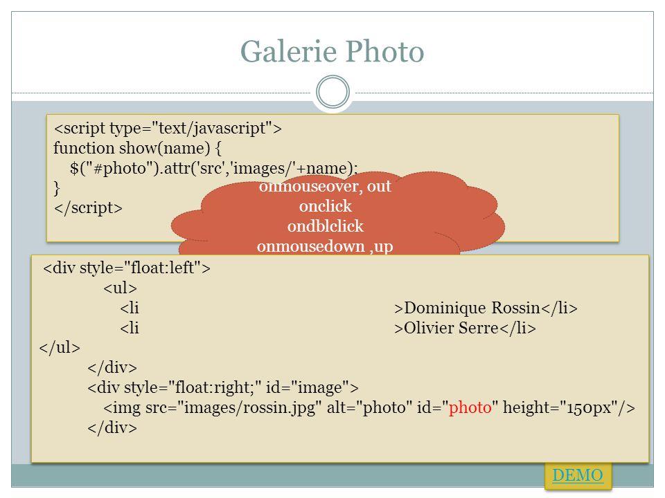 Galerie Photo <script type= text/javascript >