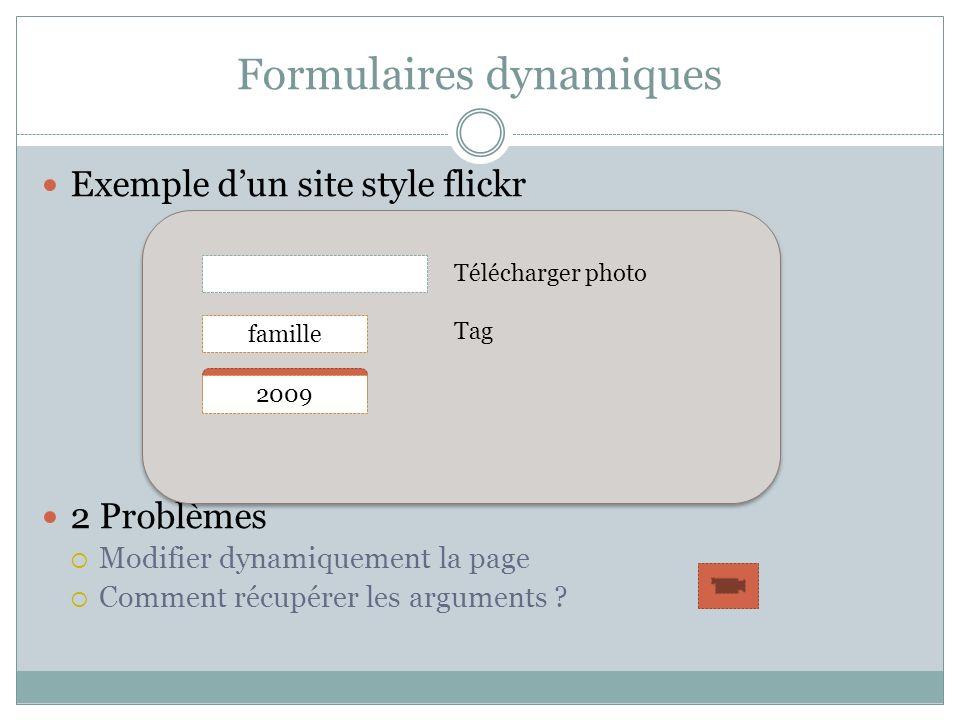 Formulaires dynamiques