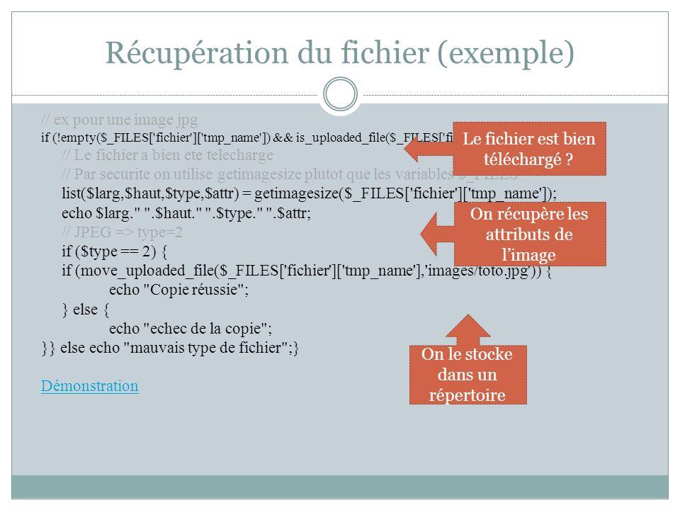 Récupération du fichier (exemple)