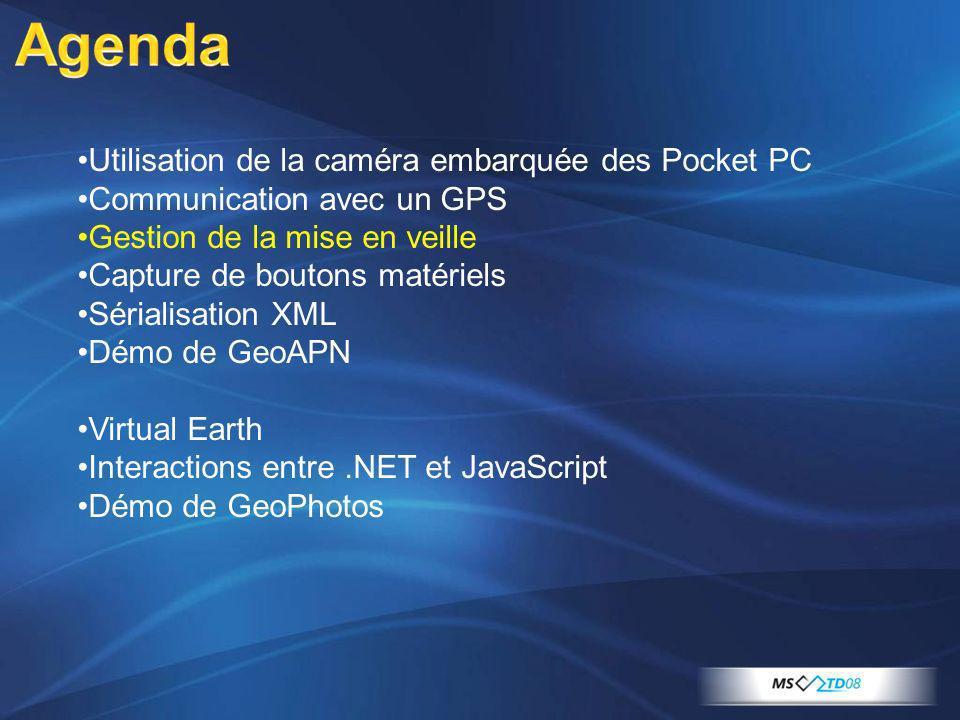 Agenda Utilisation de la caméra embarquée des Pocket PC