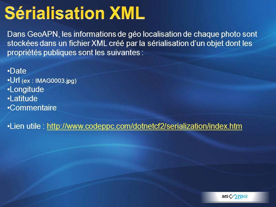 Sérialisation XML