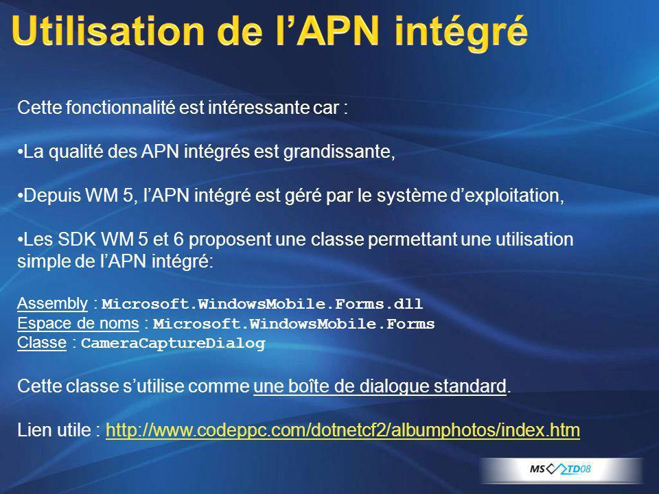 Utilisation de l'APN intégré