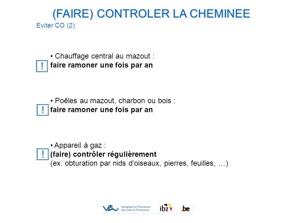 (FAIRE) CONTROLER LA CHEMINEE