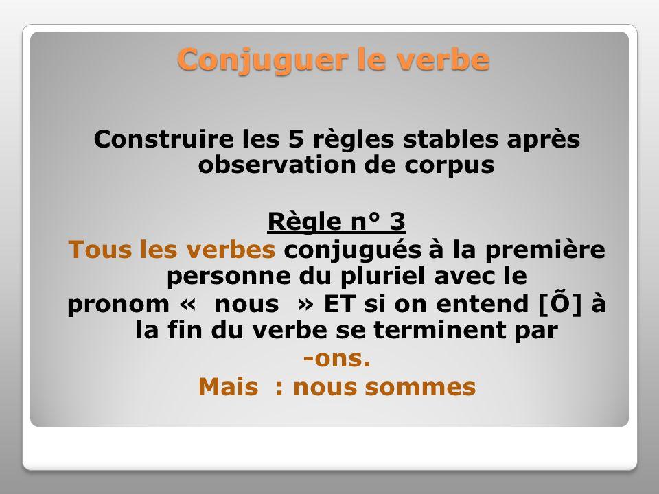 Conjuguer le verbe