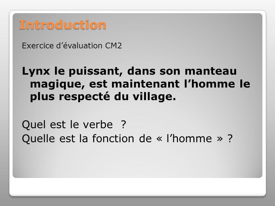 Introduction Exercice d'évaluation CM2. Lynx le puissant, dans son manteau magique, est maintenant l'homme le plus respecté du village.