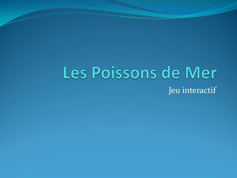 Les Poissons de Mer Jeu interactif