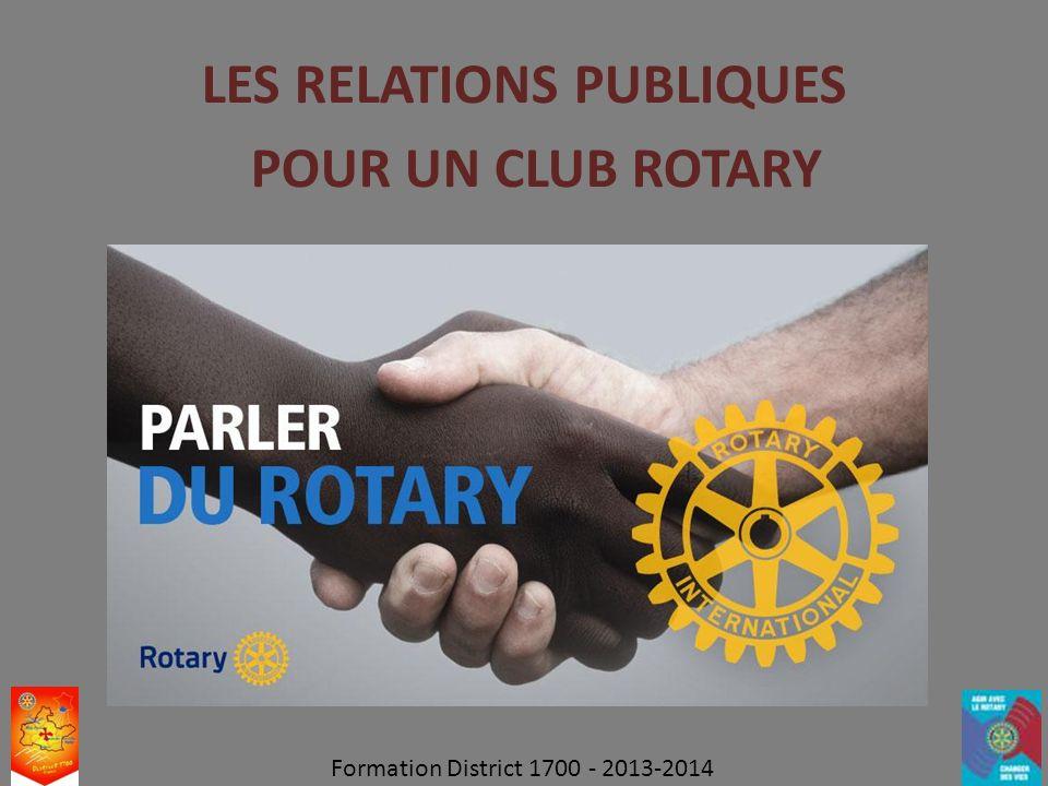 LES RELATIONS PUBLIQUES POUR UN CLUB ROTARY