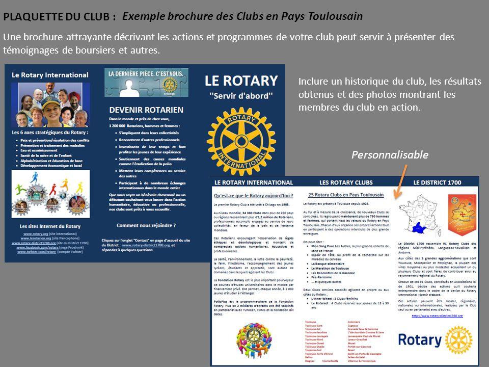 Exemple brochure des Clubs en Pays Toulousain
