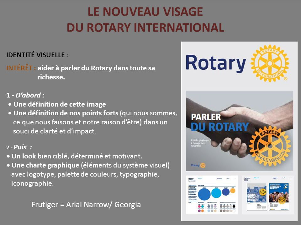 LE NOUVEAU VISAGE DU ROTARY INTERNATIONAL