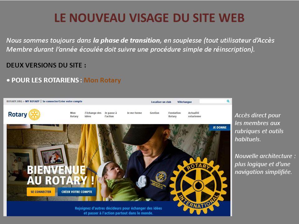 LE NOUVEAU VISAGE DU SITE WEB