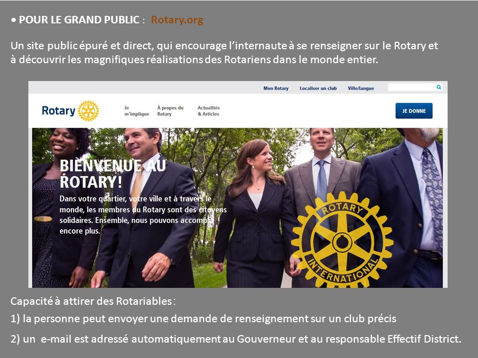 • POUR LE GRAND PUBLIC : Rotary.org