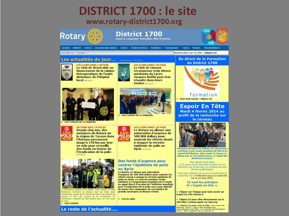 DISTRICT 1700 : le site www.rotary-district1700.org